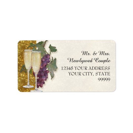 Return Address Wine Tasting Party Wedding Shower Label