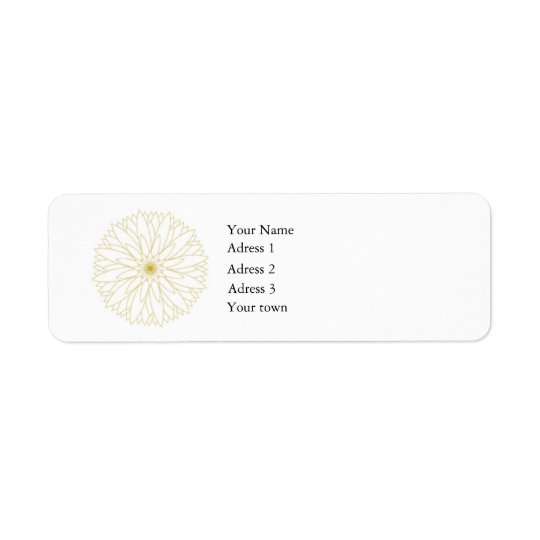 Return Adress Label Complete, white, 0,75x2,25