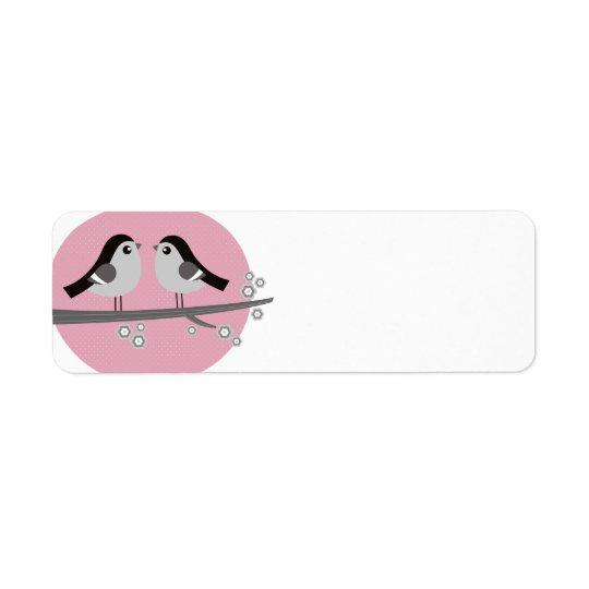 Return adress label : with 2 Love birds Return Address Label