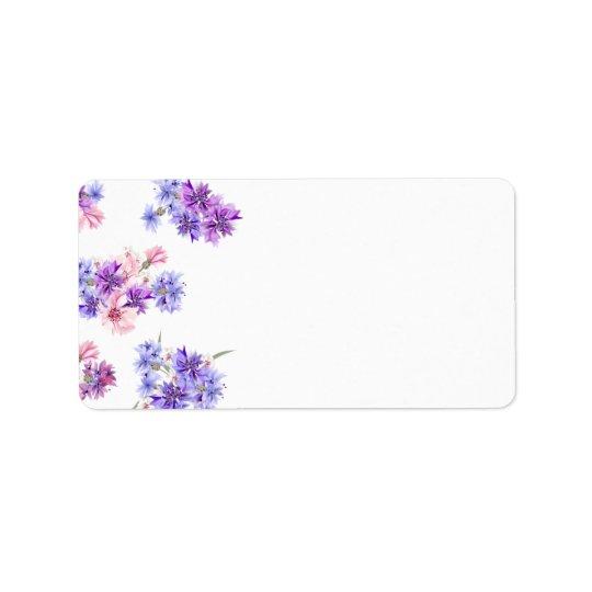 Return adress Labels : floral art