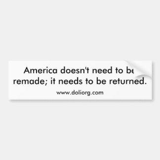 Return America Bumper Bumper Sticker
