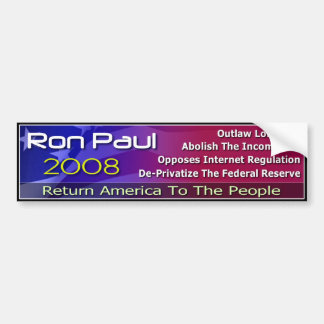 Return America To The People Bumper Sticker