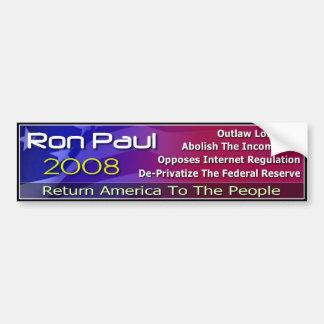 Return America To The People Car Bumper Sticker