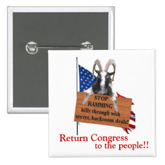 Return Congress to the People! 15 Cm Square Badge