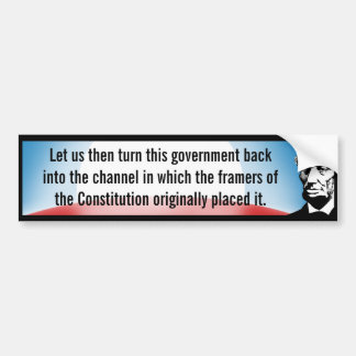 Return Government to Constitution (Lincoln) Bumper Sticker