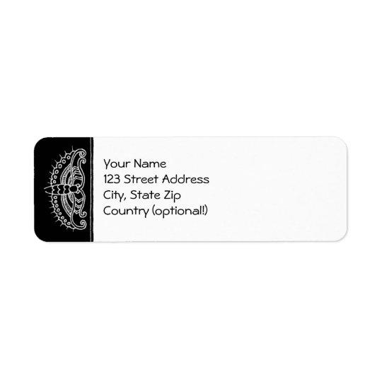 Return Label: A Letter from Butterfly (b&w) Return Address Label