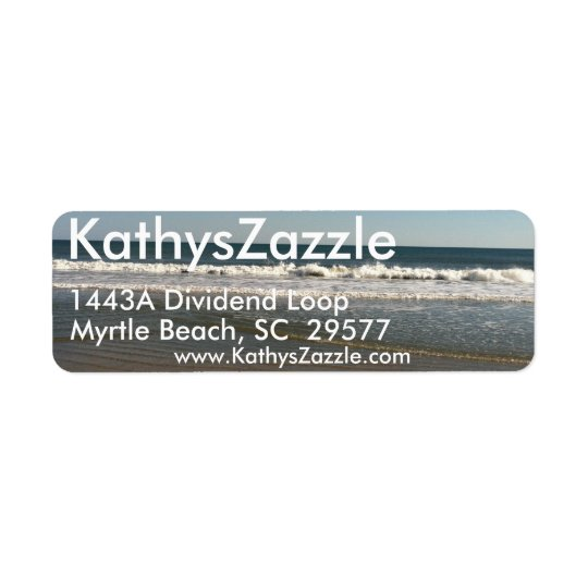 Return Mailing Address Labels, Ocean View Return Address Label