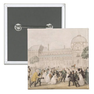 Return of Louis XVIII  to Paris, 8th July 1815 15 Cm Square Badge