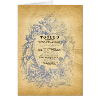 Return of Mr J L Toole Season 1886-7 Greeting Card