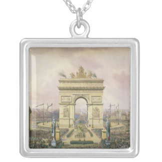 Return of the Ashes of the Emperor to Paris Silver Plated Necklace