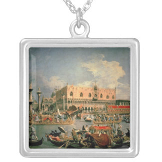 Return of the Bucintoro on Ascension Day Silver Plated Necklace