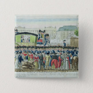 Return of the French Royal Family to Paris 15 Cm Square Badge