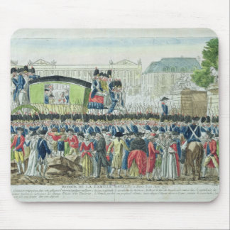 Return of the French Royal Family to Paris Mouse Mat