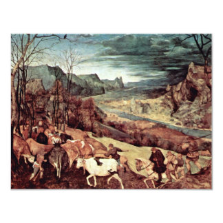Return Of The Herd (The Month Of October Or Novemb 11 Cm X 14 Cm Invitation Card
