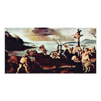 Return Of The Hunt By Piero Di Cosimo Custom Photo Card