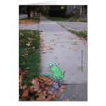 return of the lazy leaf-raker note card
