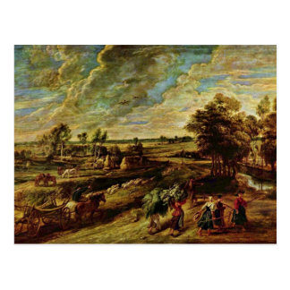 Return Of The Peasants From The Field By Rubens Postcard