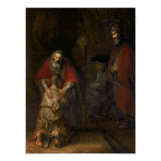 Return of the Prodigal Son, c.1668-69 Poster