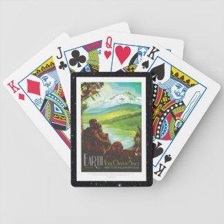 Return To Earth space tourism holiday advert Poker Deck