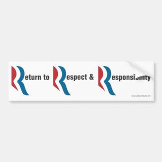 Return to Respect Romney bumper sticker