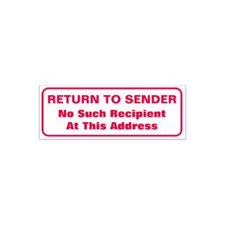 """""""RETURN TO SENDER"""", """"No Such Recipient ..."""" Self-inking Stamp"""