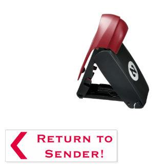 """""""Return to Sender!"""" Rubber Stamp"""