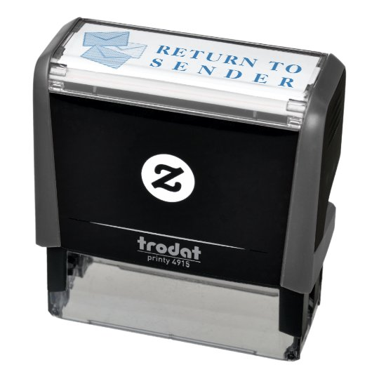 Return to sender self-inking stamp