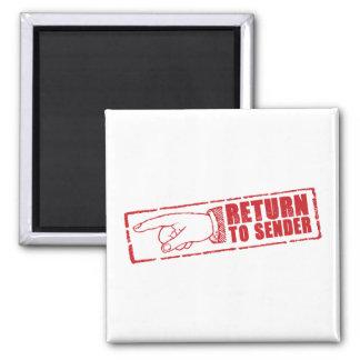 """""""RETURN TO SENDER"""" stamp in red Magnet"""