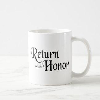 Return With Honor Basic White Mug