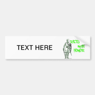 RETURN WITH HONOR LDS CTR BYU BUMPER STICKER