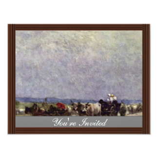 Returning Home From The Fair By Grigorescu Nicolae 11 Cm X 14 Cm Invitation Card