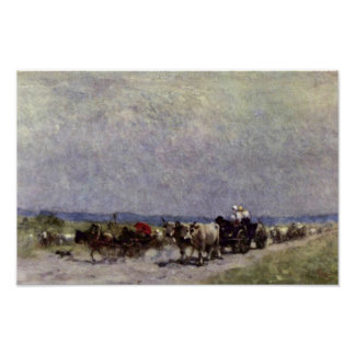 Returning Home From The Fair By Grigorescu Nicolae Poster