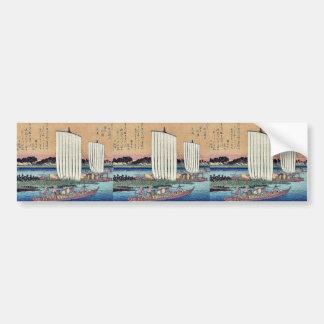 Returning sails at Gyotoku by Ando, Hiroshige Bumper Sticker