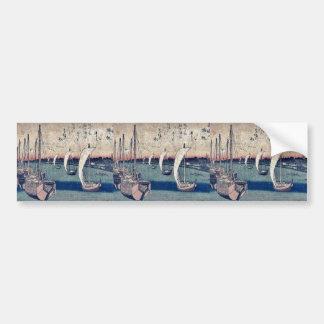 Returning sails at Takanawa by Ando, Hiroshige Bumper Stickers