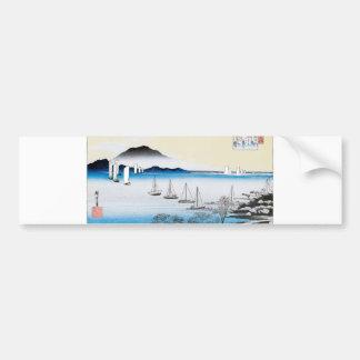 Returning Sails at Yabase, Japan circa 1834-1835 Bumper Stickers