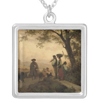 Returning Shepherd Silver Plated Necklace