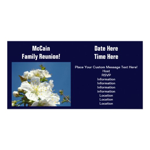 Reunion Cards Event Family Reunions Announcements Customized Photo Card