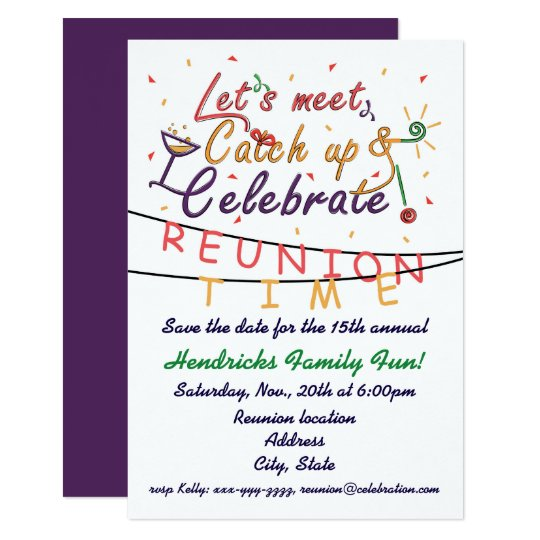 Reunion design for families, school mates, peers card | Zazzle.co.uk