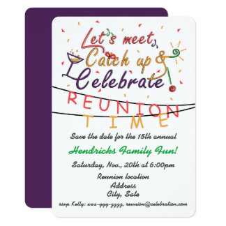 Reunion design for families, school mates, peers card