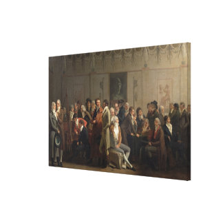 Reunion of Artists in the Studio of Isabey, 1798 Canvas Print