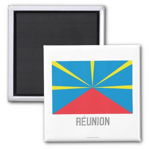 Réunion proposed flag with name magnet