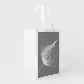 Reusable autumn flower folding shopping bag