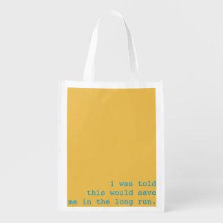 reusable bag - i was told reusable grocery bags