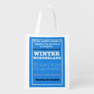 Reusable Bag in Seasonal Design - Winter