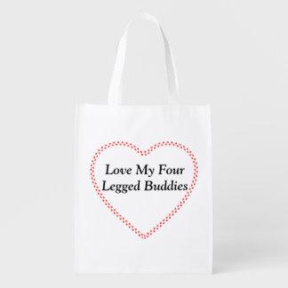 Reusable bag Love my buddies tote bag