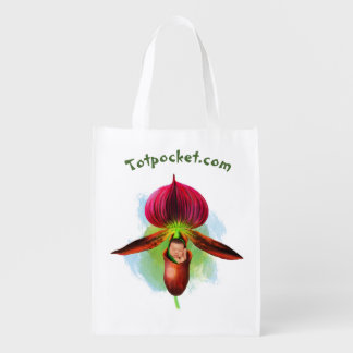 Reusable Bag - Red Lady Slipper Baby
