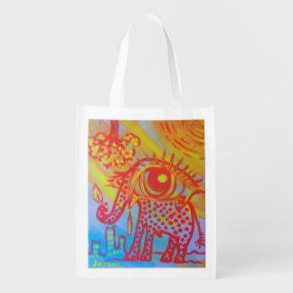 reusable bag with elephant image
