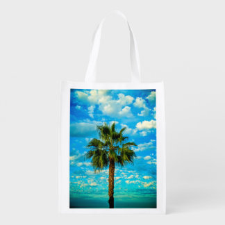 Reusable Bag with picture of palm trees blue sky