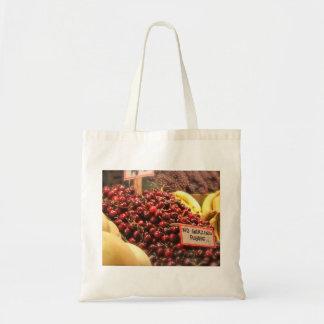Reusable Cherry Tote Budget Tote Bag