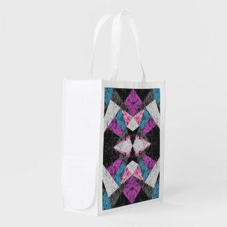 Reusable Grocery Bag Marble Geometric G438